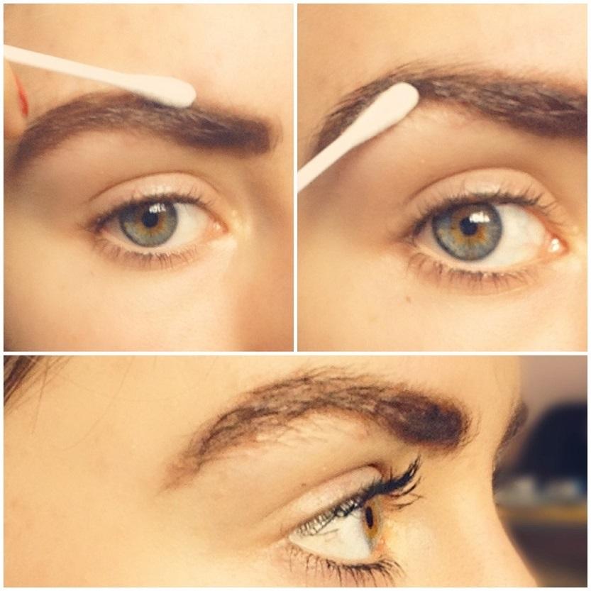 vaseline on eyebrows